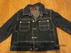 Стильный джинсовый пиджачек , куртка  для мальчика на 3-4 года