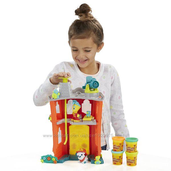 Цена снижена Пластилин Play-Doh Town Firehouse, Плей До Пожарная станция
