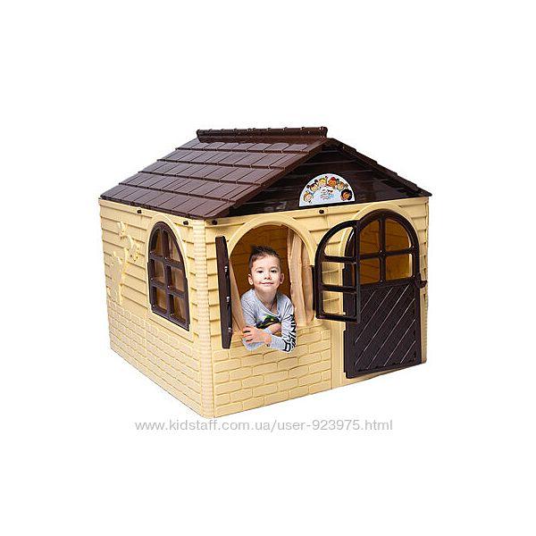 Большой детский игровой домик со шторками, фирма Doloni, качественный