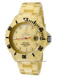 Распродажа Модные женские часы ToyWatch Pearly Aqua, янтарный цвет