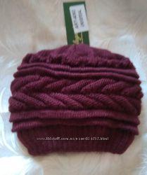 Новая теплая шапка цвета марсала