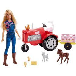 Игровой набор кукла Барби Фермер Barbie and Tractor Mattel