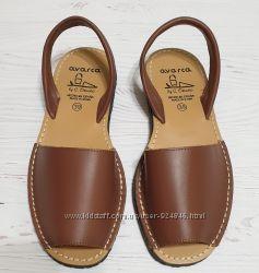 Менорки кожаные цвет коричневый