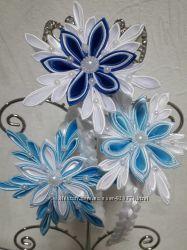 Снежинка 1 голубая на обруче