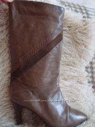 сапоги 38 кожа коричневые