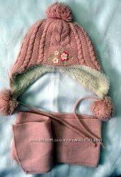 Якісний теплий набір 3-6 р. шапка, шарф