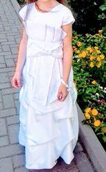 Нарядне біле плаття плаття белое 7-10 р.