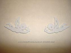 Ангелочки - купидончики декоративные деревянные, деревянный декор