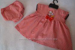 Комплект - детское платье с трусиками на 3-9мес