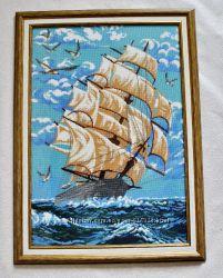Картина бисером. Корабль мечты. Шикарный подарок