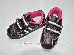 Кроссовки Little Deer черные модные B&G светятся