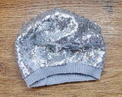 Берет серебро паетки 3-5 лет