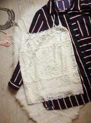 Белая майка блуза ажурная гипюр вышивка в бельевом стиле стрейч батал больш