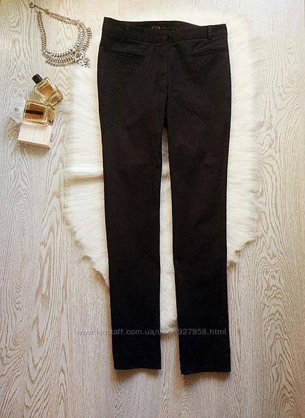 Черные женские хлопковые черные прямые брюки штаны от zara классические офи