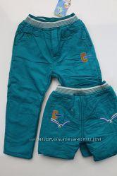 Коттоновые брюки на флисе