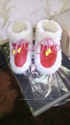 детские ботиночки из натуральной овчины