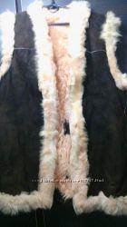 жилет из натурального меха в этно стиле