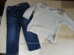 Детский набор джинсы, свитер  zara , Oshkosh