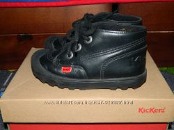 Кожаные демиботинки kickers, стелька 18 см, 28 размер