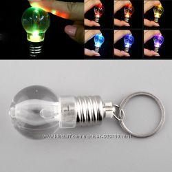 Брелок светодиодная лампочка фонарик