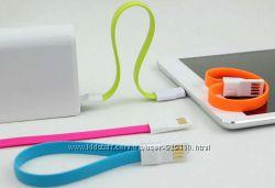 Кабель USB-микроUSB с магнитным замком 22см