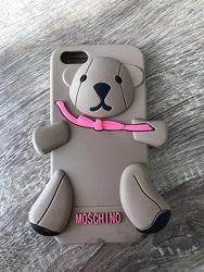 Чехол Moschino 3D Teddy для iPhone 5, 5S, SE