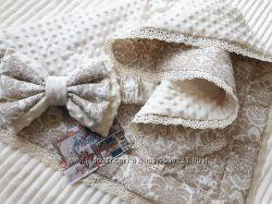 Шикарные одеяла - конверты и пледы Hand made