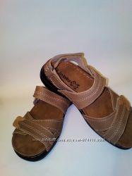 Кожаные сандалии р. 35, стелька 22 см босоножки, кожа, Inblu