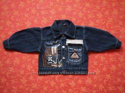 6-12 месяцев Джинсовая курточка, бу. В очень хорошем состоянии
