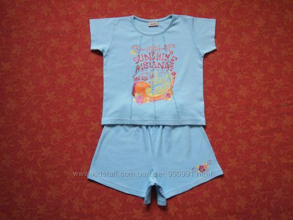4-5 лет Хлопковый набор футболка и шорты Cherokee, бу. Есть пятна. Шорты д