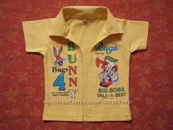 9-18 месяцев Хлопковая нарядная рубашка, бу.
