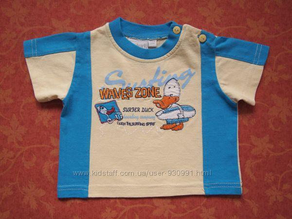 3-6 месяцев Нарядная футболка, бу.