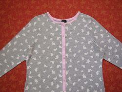 размер M-L , Женский хлопковый человечек-пижама F&F, б/у.