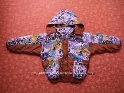 Новая демисезонная куртка на 5-7 лет. На сентипоне. На теплую весну и осень