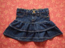 2-3 года, Джинсовая юбка Denim Co, бу.