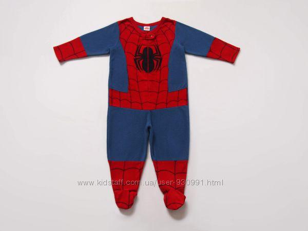 3 года Флисовый человечек Человек-паук Spider-Man, Marvel, Primark, бу.