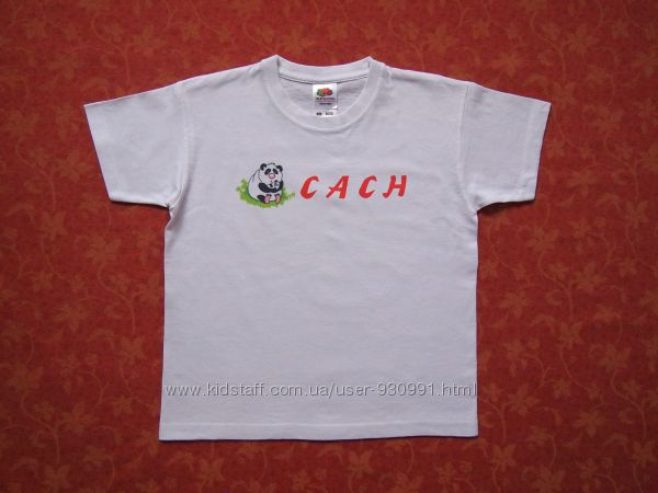 5-6 лет Хлопковая футболка Fruit of the Loom, бу.