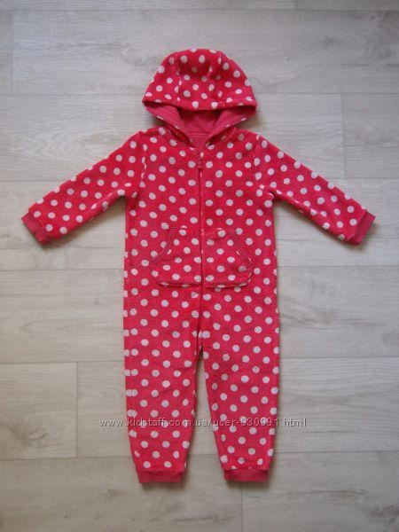 2-3 года Махровый человечек-пижама Mothercare, бу.