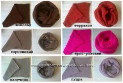 В наличии шарфы-хомуты, цвета в асортименте