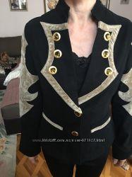 Пиджак женский с замшой