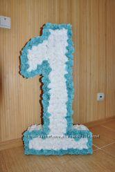 Цифры из салфеток ко дню рождения