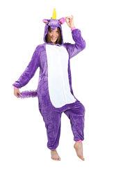 Пижама кигуруми Взрослые Единорог фиолетовый