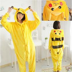 Пижама кигуруми Взрослые  пикачу желтый
