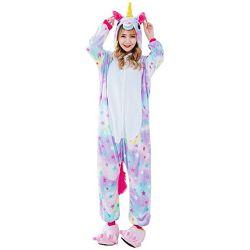 Пижама кигуруми Взрослые Единорог звездный