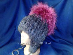 Зимняя шапочка из натурального меха для девочки