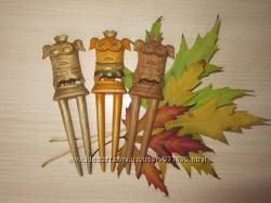 Отличный подарок заколка-шпилька из дерева Миньон.