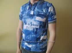 Продам новую синюю мужскую футболку