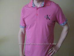 Продам новую мужскую футболку розового цвета