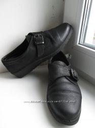 Мокасины. Туфли Еcco . кожаные 38-39 роз.