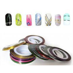 Лента разных цветов для дизайна ногтей, распродажа